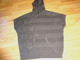 BANANA REPUBLIC TAUPE CAP SLEEVE HOODIE SWEATER SIZE XL - $19.34