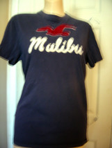 HOLLISTER COTTON BLUE MALIBU KNIT TOP SZ JR M - $14.50