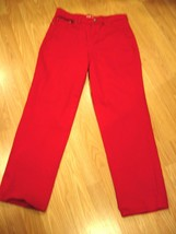 STYLE & CO EASY FIT RED STRETCH DENIM STRAIGHT LEG JEANS SIZE 10 SHORT - $17.41