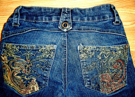 SOUTHPOLE STRETCH EMBELLISHED DENIM BOOTCUT JEANS SIZE 1 - $17.41