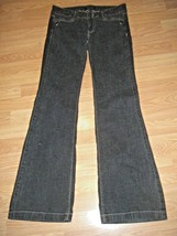 White HOUSE/BLACK Market Noir Stretch Faded Black Denim Flare J EAN S Size 2R - $19.34