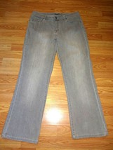 CHICO'S STRETCH GRAY DENIM BOOTCUT JEANS SIZE CHICO'S 1 short - $17.41