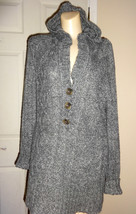 FADED GLORY GRAY LONG SLEEVE PULLOVER HOODED SWEATER SIZE 16W - $17.34