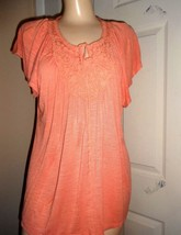 APT 9 LT ORANGE SOFT RAYON KNIT TOP SZ PXL - $14.50