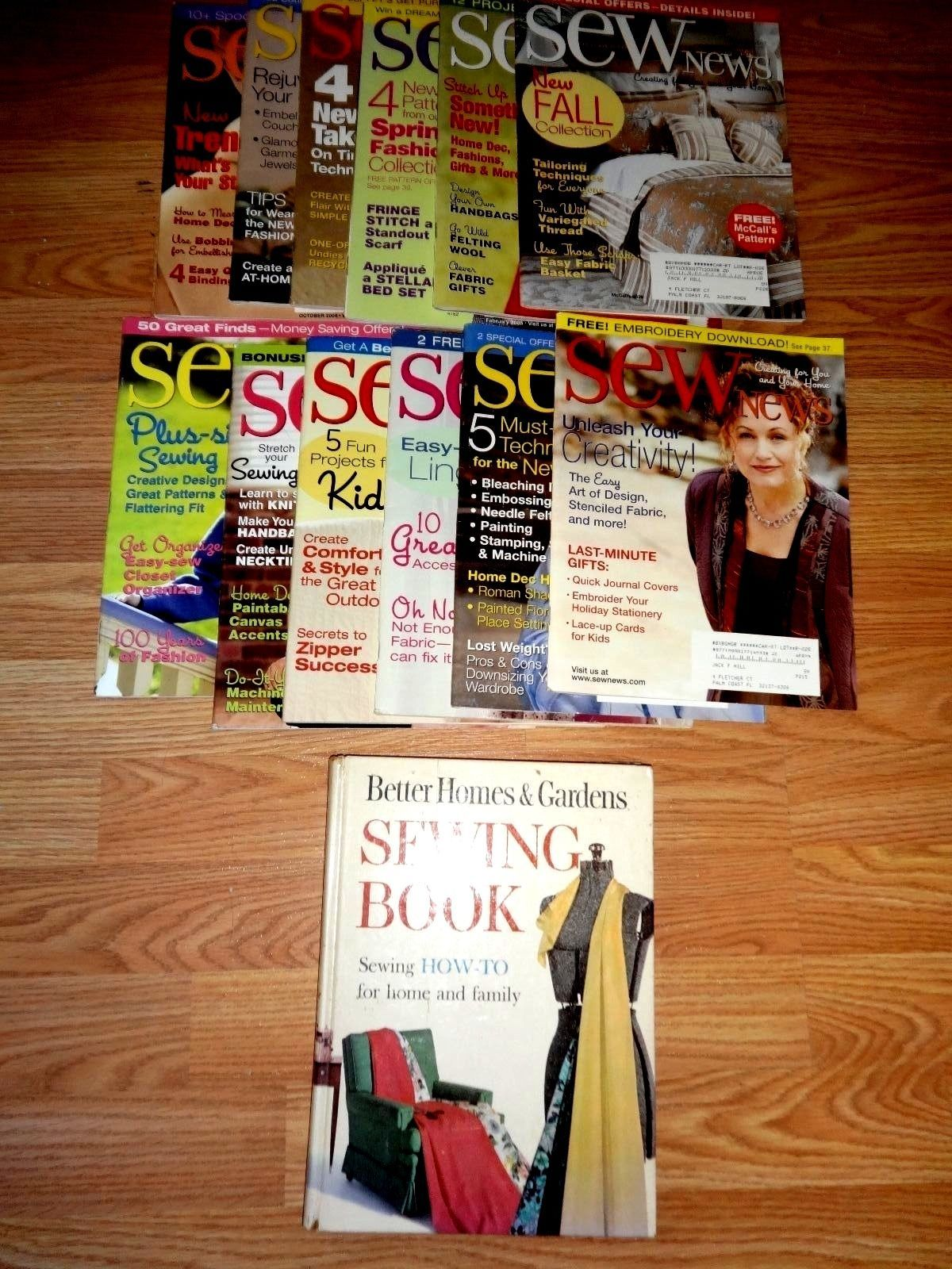 Primary image for BETTER HOMES & GARDEN SEWING BOOK/12 SEW NEWS MAGAZINES 2004/2005
