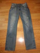 DIESEL KURREN STRETCH DISTRESSED DENIM STRAIGHT LEG BUTTON FLY  JEANS SI... - $38.69