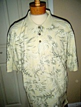 Tommy Bahama Mens Cotton Beige Print Polo Shirt Size Xl - $38.69