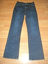 LEVI'S 512 PERFECTLY SLIMMING STRETCH DK DENIM BOOTCUT JEANS SIZE 6 - $17.41