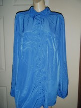 GEORGE BLUE LONG SLEEVE BUTTON FRONT SHIRT SIZE 16W - $16.44