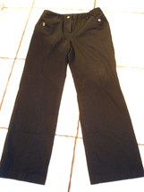 WILLI SMITH BROWN STRETCH COTTON BOOTCUT PANTS ... - $15.47