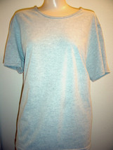 JMS GRAY SHORT SLEEVE KNIT TOP SIZE 1X (16W) - $9.74