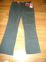 NWT LEE STRETCH GRAY DENIM BOOTCUT JEANS SIZE 12P - $24.18