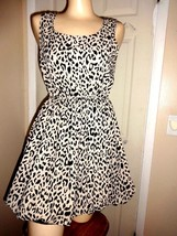 RUE 21 LEOPARD PRINT LINED SLEEVELESS PARTY DRESS SIZE M - $29.02