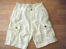 AMERICAN EAGLE LT BEIGE COTTON LONG CARGO SHORTS SIZE 26 - $17.41