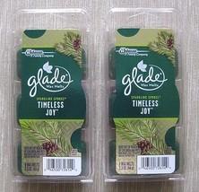 2 Packs Glade Wax Melts Sparkling Spruce Timele... - $9.00