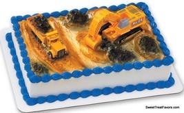 Construction Trucks DIG Cake Topper Decoration Party Cupcake Carterpillar Kit NW - $10.84