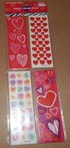 "Valentine's Day Sticker Strips 36ea  6""x2"" Acid Free Mega Value Pack Hearts 102W - $6.49"