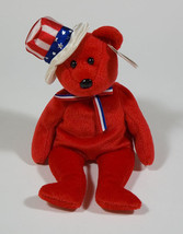 Ty B EAN Ie Babies Baby Red Sam Patriotic Usa Teddy Bear Nwt - $4.20