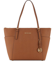 NWT Michael Kors Jet Set Top Zip Large Tote Saf... - $185.69