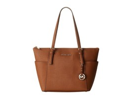 NWT Michael Kors Jet Set Top Zip Medium Tote Sa... - $171.83