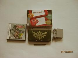 Red Nintendo New 3ds xl w Zelda Spirit Tracks  & More!!! - $269.99