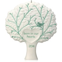 Born in Our Hearts 2014 Hallmark Ornament Family Adoption Boy Girl Bless... - $5.83