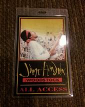 Jimi Hendrix Woodstock pass 1994 Rare! - $46.63