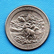 2012 D Denali Alaska America The Beautiful Quarter - $1.25