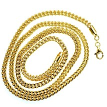 Mens Franco Link Chain 32.43 gram Solid 14K Yellow Gold 4.4 mm Necklace3... - $1,744.00