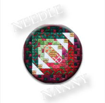 Holiday Bells Needle Nanny needle minder cross stitch Hands On Design - $12.00