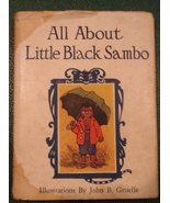ALL ABOUT LITTLE BLACK SAMBO BOOK 1917 BANNERMAN JOHNNY GRUELLE COLOR IL... - $99.99
