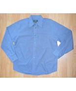 N031 Men's shirt EDDIE BAUER Size L 100% cotton, Button-Front, Long Sleeve - $9.20