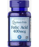 Puritan's Pride Folate 666mcg DFE (Folic Acid 400 mcg)-250 Tablets - $9.29