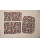 22 pcs poinsettia linen, tablecloth, place mats, napkins set christmas l... - $22.50
