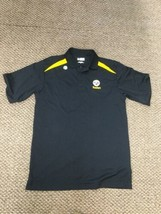 NWOT Pittsburgh Steelers Black Yellow Polo Golf Shirt Medium New Without Tags - $14.84