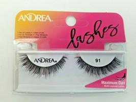 Andrea Max Curl Multilayer Lashes Black False Fake Eyelashes 1 Pair # 91... - $6.75