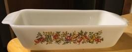 White Vintage Baking Dish Loaf w/ Vegetables - $12.19