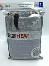NWT 32 Degrees Heat Kids L 12 14 Gray Snowflake Baselayer Shirt Leggings... - $12.99