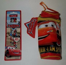 NWT Disney CARS Pencil Case Zippered Bag + 4 Pack Pencils School Supplies - $14.80