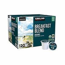 Kirkland Signature Organic Breakfast Blend Light-Roast Coffee, 120 K-Cup Pods Pa - $427.22