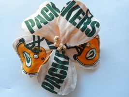 Green Bay Packers Fabric Hibiscus Barrette - $13.33 CAD