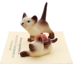 Hagen-Renaker Miniature Cat Figurine Siamese Kittens 2 Piece Set Chocolate Point image 3