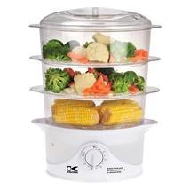 Kalorik 3 Tier Food Steamer, White  - $110.71