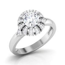 White Diamond Solid 18k White Gold Engagement Ring Womens Anniversary Ring Gift - $599.99