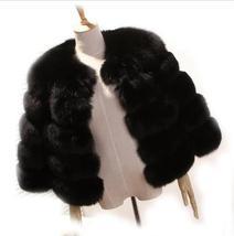 Women Winter fashion Designer Thick Faux Mink Coat image 6