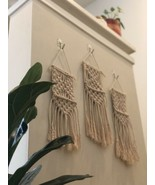 Set Of 3 Mini Woven Macrame Hanging Wall Art Tapestries Boho Decor NEW - $29.57
