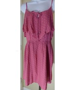 American Eagle Outfitters Summer Dress Dark Pink Floral Print Size M Raf... - $19.80