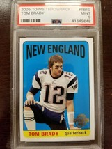 TOM BRADY 2005 Topps Throwbacks #TB10  New England Patriots PSA 9 - $19.99