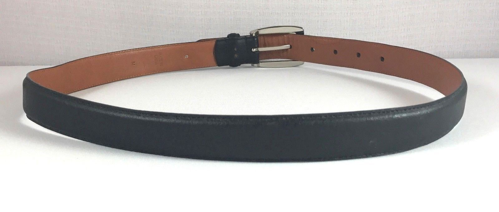 Ralph Lauren Womens Black Genuine Leather Belt Size Medium