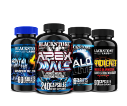 Blackstone Labs MAX GAINS Stack - Apex Male, Brutal 4ce, Eradicate, Halo... - $168.29